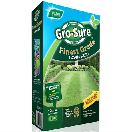 Gro-Sure Finest Grass Lawn Seed - 10 sq.m - 300g (20500184)