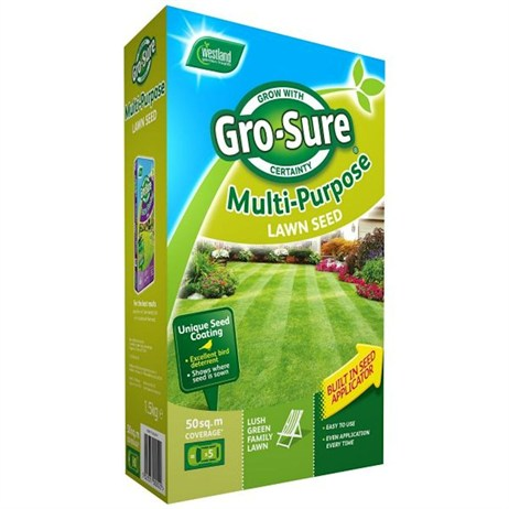 Gro-Sure Multi-Purpose Grass Lawn Seed - 300 sq.m - 9kg (20500193)