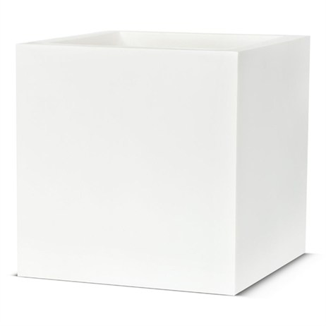 Cadix Planter Square 40 x 40 x 40cm - White (WFL903) (DIRECT DISPATCH)