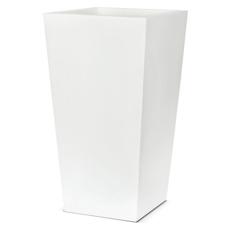 Cadix Planter Tapered 32 x 32 x 60cm - White (WFL912) (DIRECT DISPATCH)