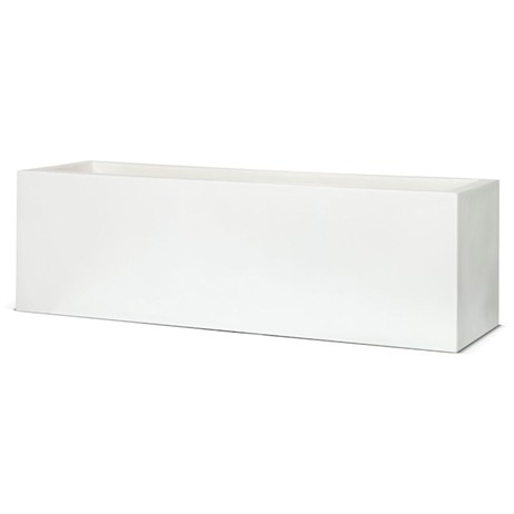 Cadix Planter Rectangular Low 88 x 28 x 28cm - White (WFL962) (DIRECT DISPATCH)