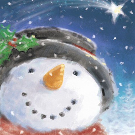 Ling 6 Pack Charity Christmas Cards - Snowman Smile - 13.5cm (X12114RCJP)