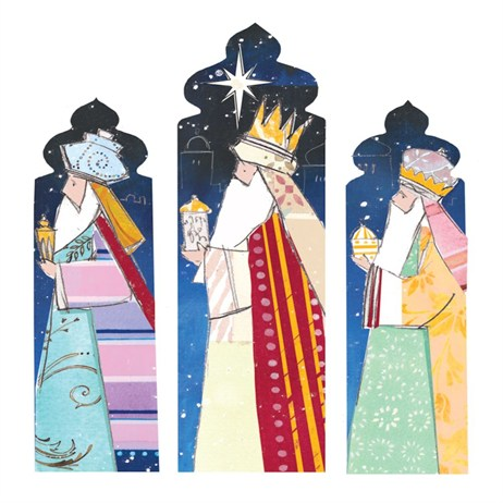 Ling 6 Pack Charity Christmas Cards - Three Wise Men - 13.5cm (X12123RCJP)