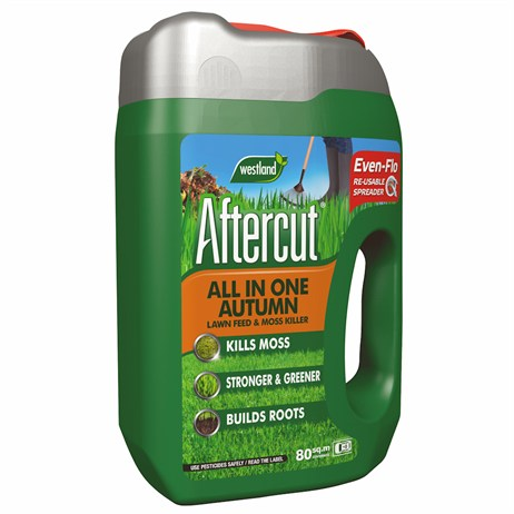 Aftercut All In One Autumn Lawn Care (Lawn Feed and Moss killer) Even Flo Spreader - 80 sq.m - 2.8kg (20400455)