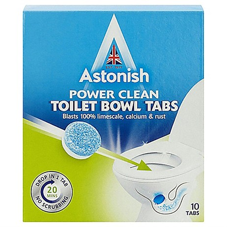 Astonish Power Clean Toilet Bowl Tabs - 10 Tabs (Mrs Hinch)