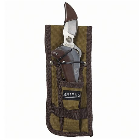 Brier Secateurs and Knife in Pouch Set - Natural (B5231)