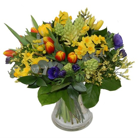 Bright Spring Easter Hand Tied Bouquet