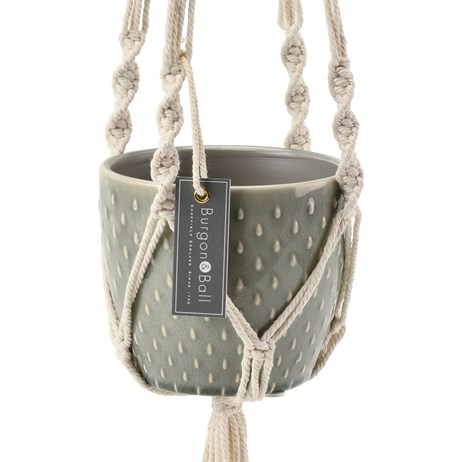 Burgon & Ball Glazed Pot - Macrame (GIG/HMAC)
