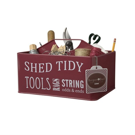 Burgon & Ball Shed Tidy - Burgundy (GYO/SHEDRED)