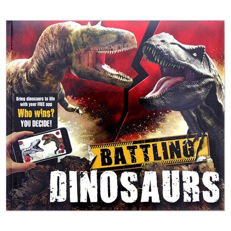 Carlton Books iExplore Battling Dinosaurs AR Childrens Book