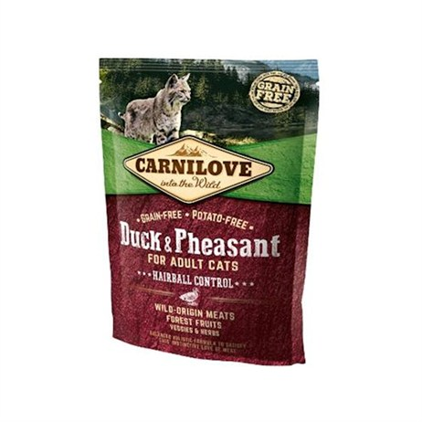 Carnilove Duck & Pheasant Cat Food for Adult Cats - Hairball Control 400g (512355)