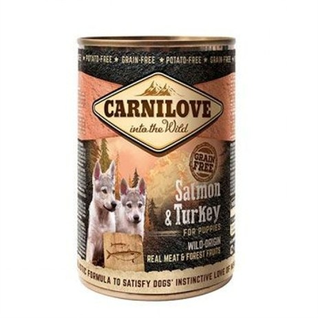 Carnilove Salmon & Turkey Puppy 400g Tinned Dog Food (512119)