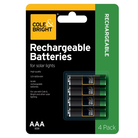 Cole & Bright AA Rechargeable Battery - 4 pack (L26274)