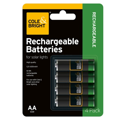 Cole & Bright AAA Rechargeable Battery - 4 pack (L26275)