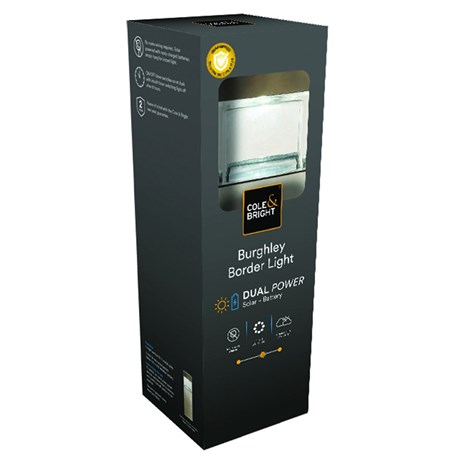 Cole & Bright Burghley Dual Power Solar Border Light (L22122)
