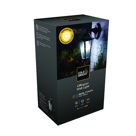 Cole & Bright Uffinton Solar Wall Light (L26414)