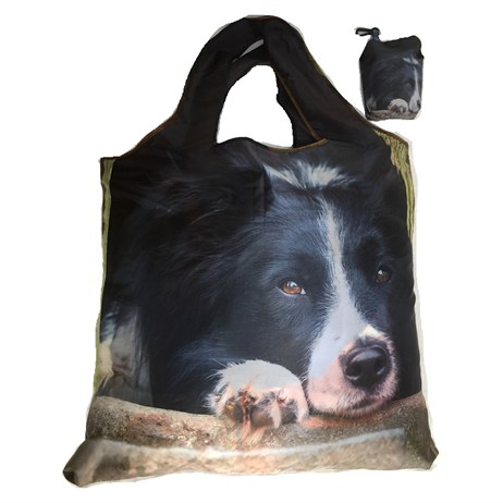 Country Matters Collie Chill Out Fold Away Shopping Bags (CMBAG0130)