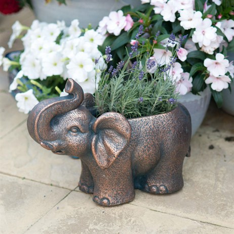 Creekwood Elephant Planter - Bronze (43073)