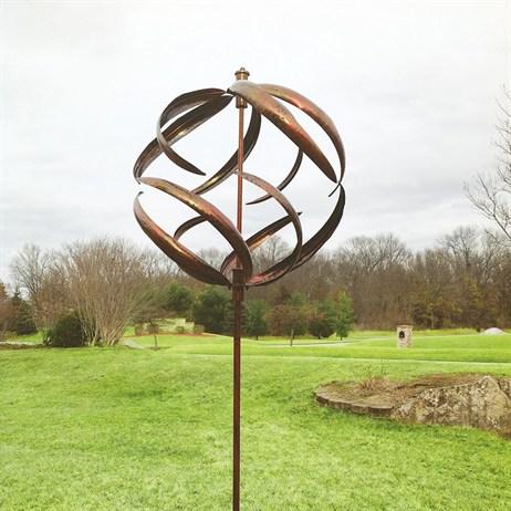 Creekwood Sphere Copper Wind Spinner Hh94