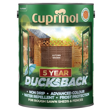 Cuprinol 5 Year Ducksback Paint - Autumn Brown 5L (5092442)
