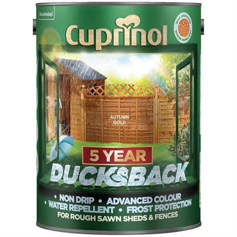 Cuprinol 5 Year Ducksback Paint - Autumn Gold 5L (5111363)