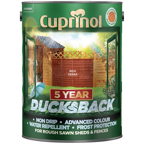 Cuprinol 5 Year Ducksback Paint - Rich Cedar 5L (5092436)