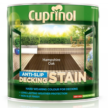 Cuprinol Anti-Slip Decking Stain - Hampshire Oak 2.5L (5092620)