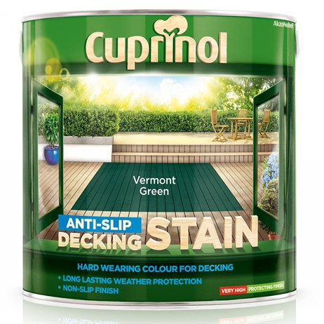 Cuprinol Anti-Slip Decking Stain - Vermont Green 2.5L (5083458)