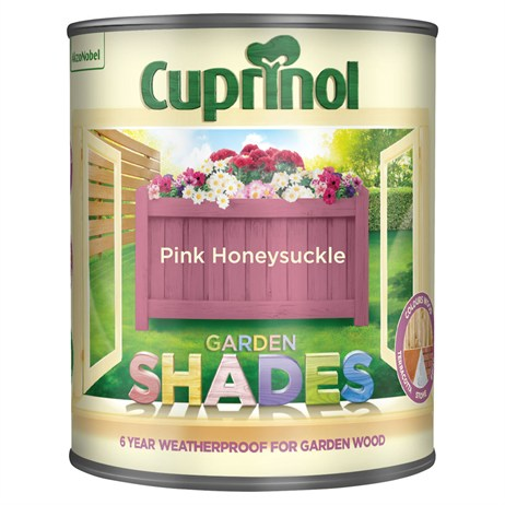 Cuprinol Garden Shades Paint - Pink Honeysuckle 1L (5232363)