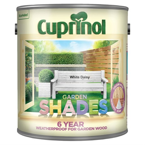 Cuprinol Garden Shades Paint - White Daisy 2.5L (5159077)