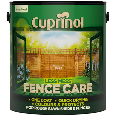 Cuprinol Less Mess Fence Care - Autumn Gold 6L (5194067)