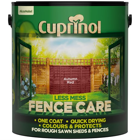 Cuprinol Less Mess Fence Care - Autumn Red 6L (5194068)
