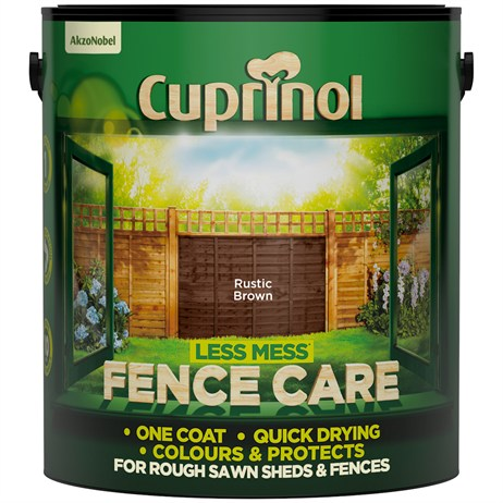Cuprinol Less Mess Fence Care - Rustic Brown 6L (5194071)