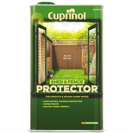 Cuprinol Shed And Fence Protector - Acorn Brown 5L (5095345)