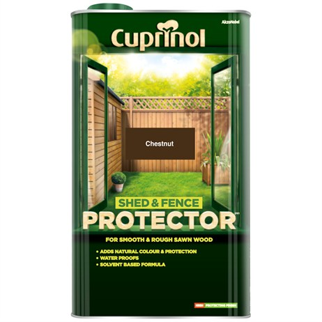 Cuprinol Shed And Fence Protector - Chestnut 5L (5095349)