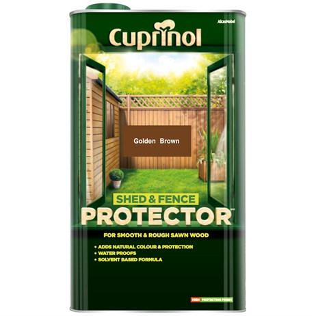 Cuprinol Shed And Fence Protector - Golden Brown 5L (5095347)