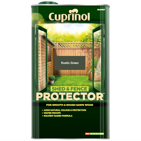 Cuprinol Shed And Fence Protector - Rustic Green 5L (5095351)