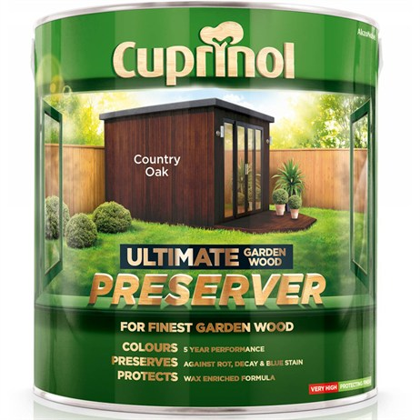 Cuprinol Ultimate Garden Wood Preserver - Country Oak 4L (5206086)