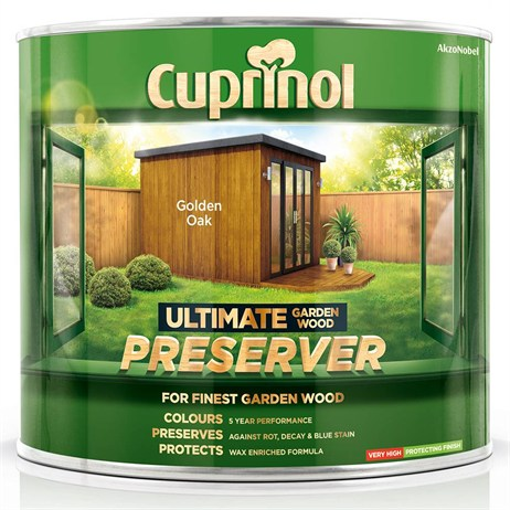 Cuprinol Ultimate Garden Wood Preserver - Golden Oak 1L (5206080)