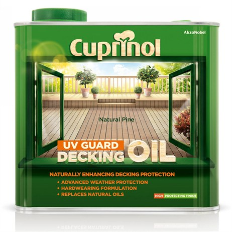 Cuprinol Uv Guard Decking Oil - Natural Pine 2.5L (5122412)