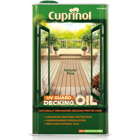Cuprinol Uv Guard Decking Oil - Natural Pine 5L (5122416)