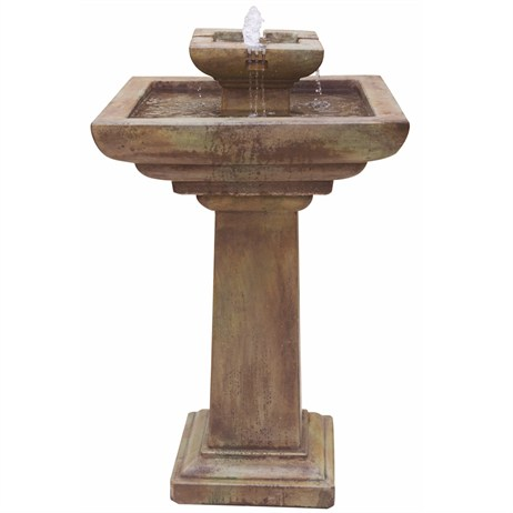 DIRECT DISPATCH Henri Studio Falling Water Fountain Water Feature With Light (H4472F2RN)