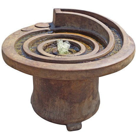 DIRECT DISPATCH Henri Studio Hurricane Eye Patio Fountain Water Feature With Light (H5585F2RL)