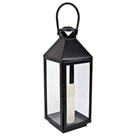 Direct Dispatch Ivyline 52Cm Metal Lantern Chiswick With Led Candle (GRFFMLC52)