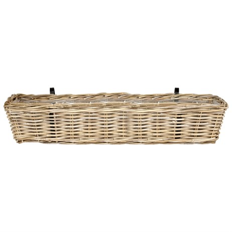 Direct Dispatch Ivyline Balcony Planter Rattan Grey 60Cm (GRBPRG60)