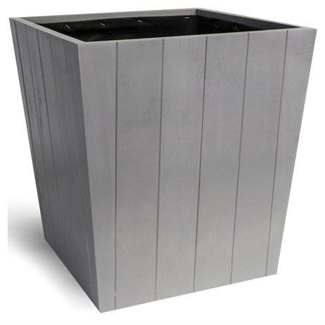 Direct Dispatch Ivyline Hardwood Tapered Planter Cool Grey 37Cm (WTPCG37)