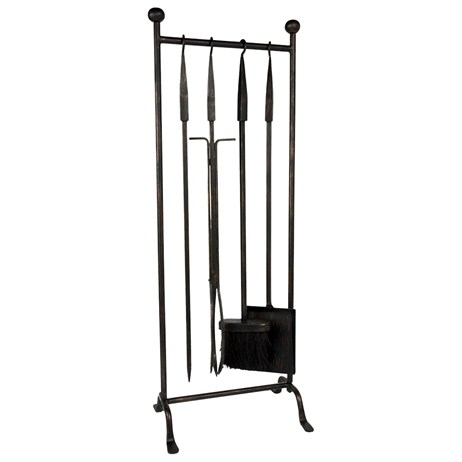 Direct Dispatch Ivyline Iron Hanging Rack Fire Set (WFIRHRFS)