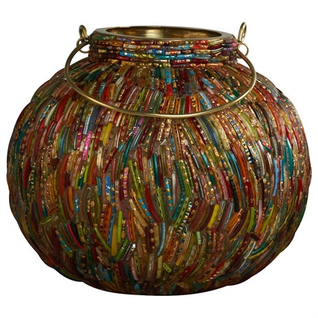 Direct Dispatch Ivyline Jewelled Globe Lantern 19Cm (WFFFJGL20)