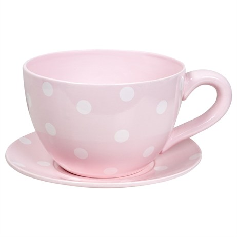 Direct Dispatch Ivyline Large Teacup Pink Polka Colour Gift Box (GRLRGTCPP)