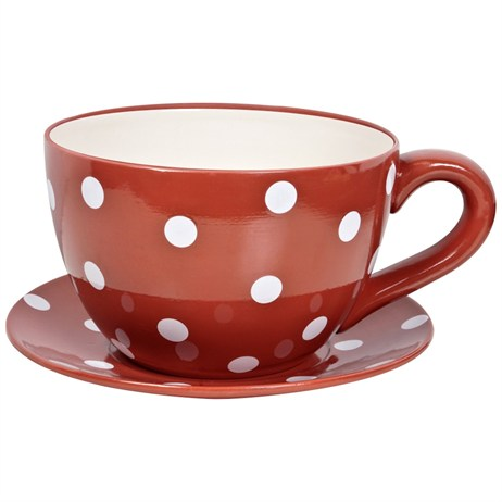 Direct Dispatch Ivyline Large Teacup Red Polka Colour Gift Box (GRLRGTCRP)